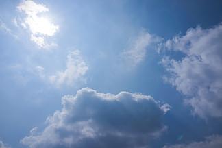 藍天白云背景素材圖