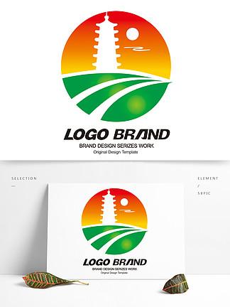 矢量中國風旅游logo公司標志設計