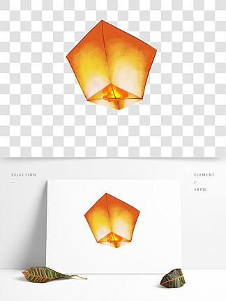 可商用原创手绘孔明灯GIF