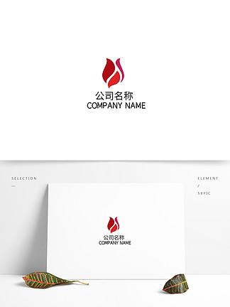 女性健康養生美容spa玫瑰圖形logo