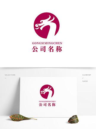 龍地產房產廣告傳媒中國風文化logo