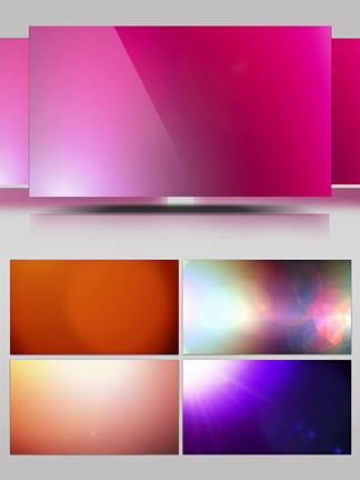 镜头光斑光晕多色转场视频素材