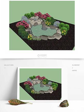 假山草圖設計元素