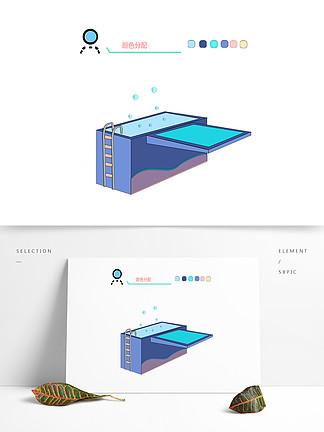 原創游泳池跳板對話框