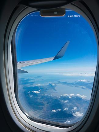 飛機窗外的美麗風景