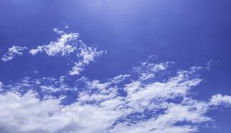 晴天藍天白云晴空白云
