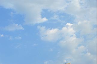 藍天白云晴朗天空攝影