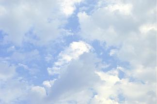 藍天白云陽光攝影