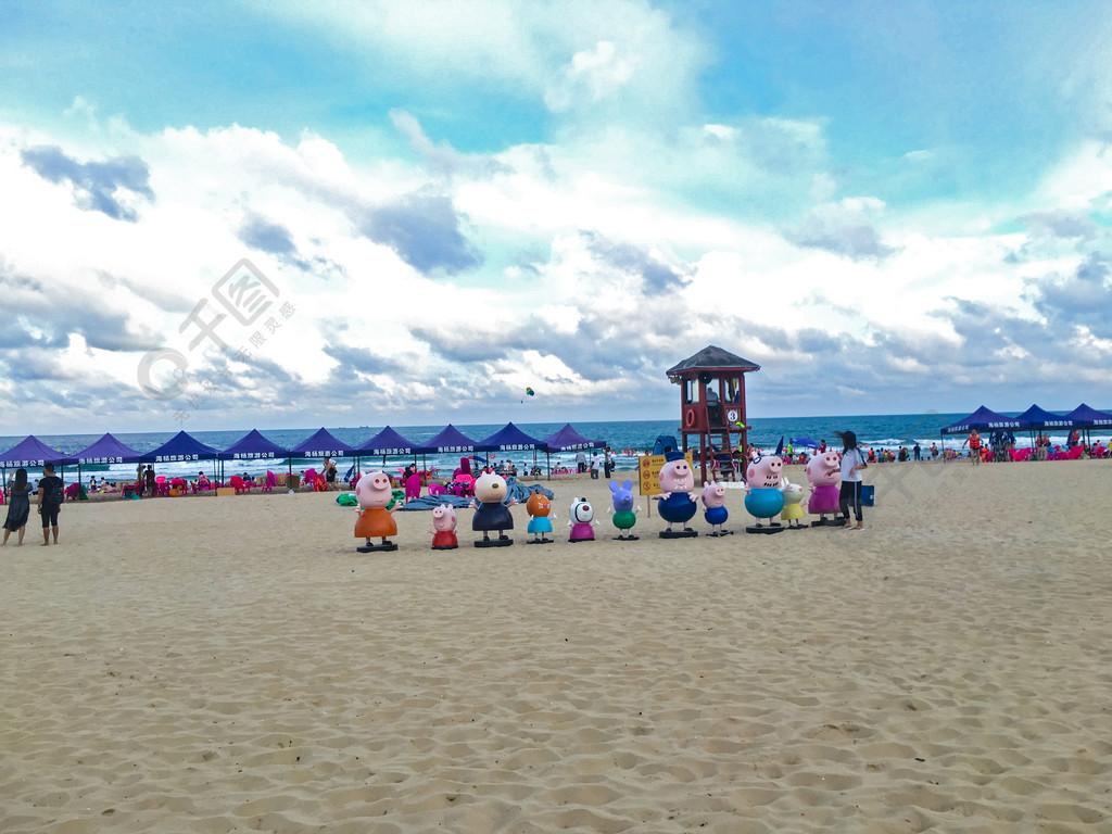 陽江海陵島海灘邊上