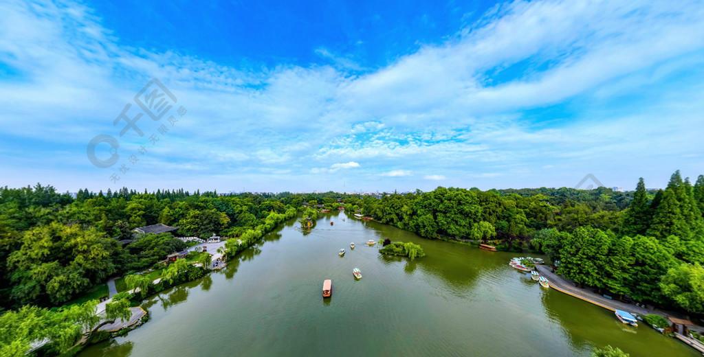 西湖美麗風景攝影圖