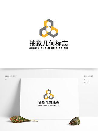 抽象几何科技商务logo