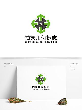 抽象几何环保节能logo