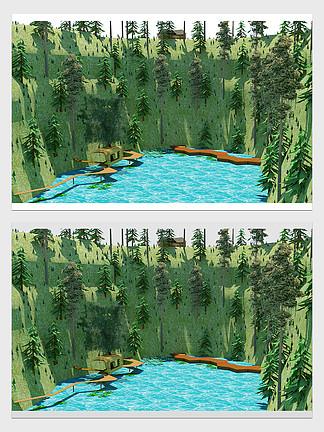 山水田園浪漫風情樹林