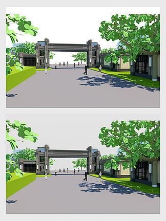 復古風公園景觀設計