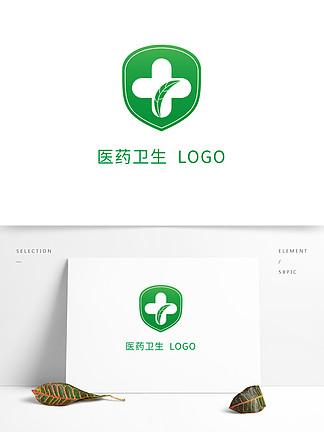 綠色安全盾醫藥衛生行業logo標志