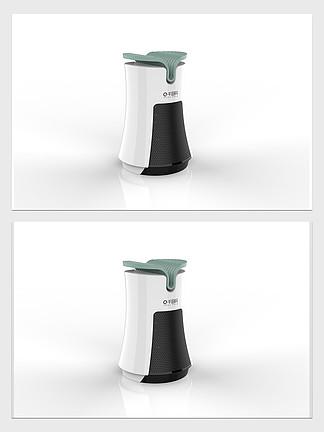 创意净化器3D模型带效果图