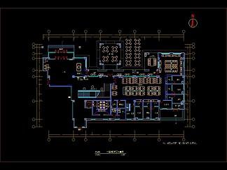 時尚簡約中餐廳<i>裝</i><i>修</i>CAD平面<i>圖</i>