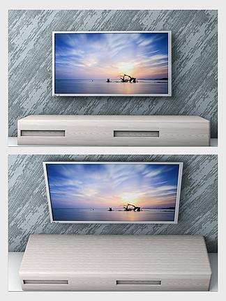 金属银边4K高清电视机3D模型