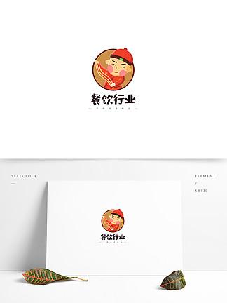 卡通拉面形象餐飲行業logo