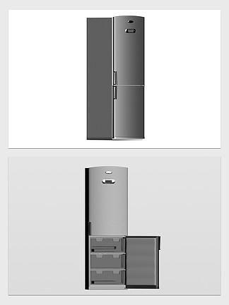 3d家用电器冰箱模型