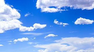 藍天白云天空素材