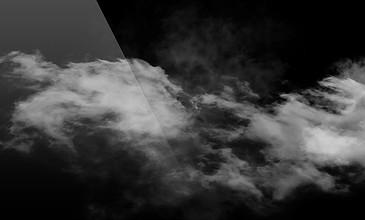 帶通道天空飄云素材
