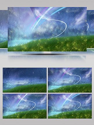 非實拍草地天空背景素材