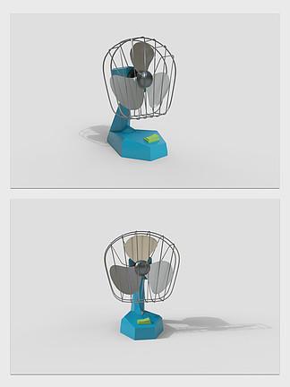 卧室小风扇家用电器3d模型