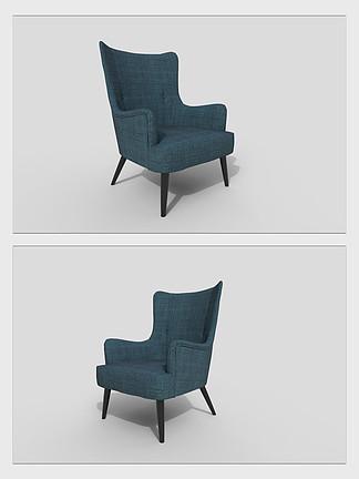休闲椅沙发3d模型