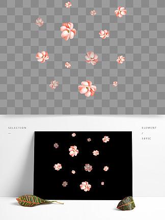 小清新手绘漂浮花瓣简约免抠动态gif元素