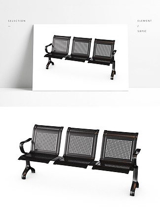 3D简约现代椅子凳子C4D模型产品
