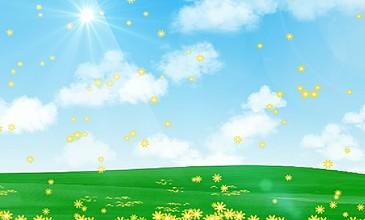 卡通藍天白云風景視頻AE模板