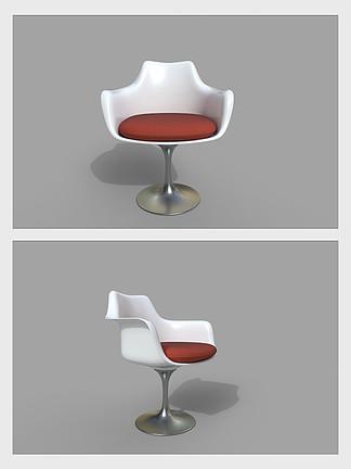 现代椅子凳子餐椅3d模型