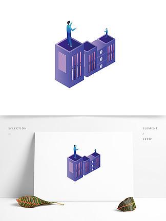 建筑创意插画元素