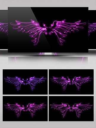 炫彩光效翅膀通道素材AE模板