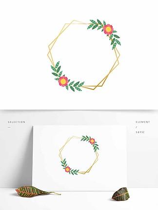 邊框花卉花朵矢量植物元素婚禮