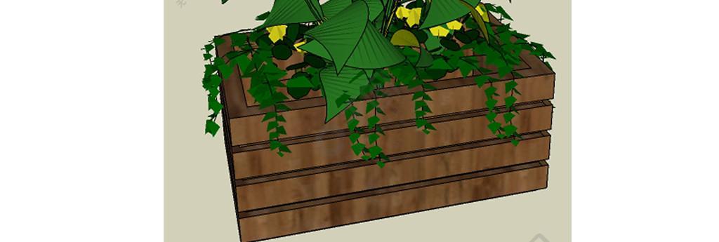 木花壇草圖大師設計元素