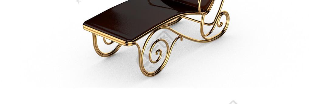 3D简约现代椅子家具C4D模型产品休闲椅
