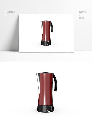 3D简约现代家用电器C4D水壶模型产品