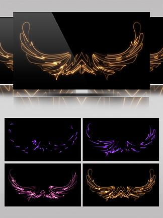 图腾装饰翅膀光效素材AE模板