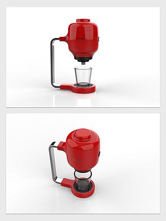 家用电器红色咖啡机3D模型