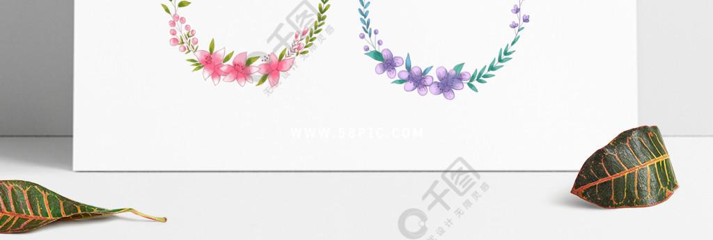 小清新花和叶简约边框