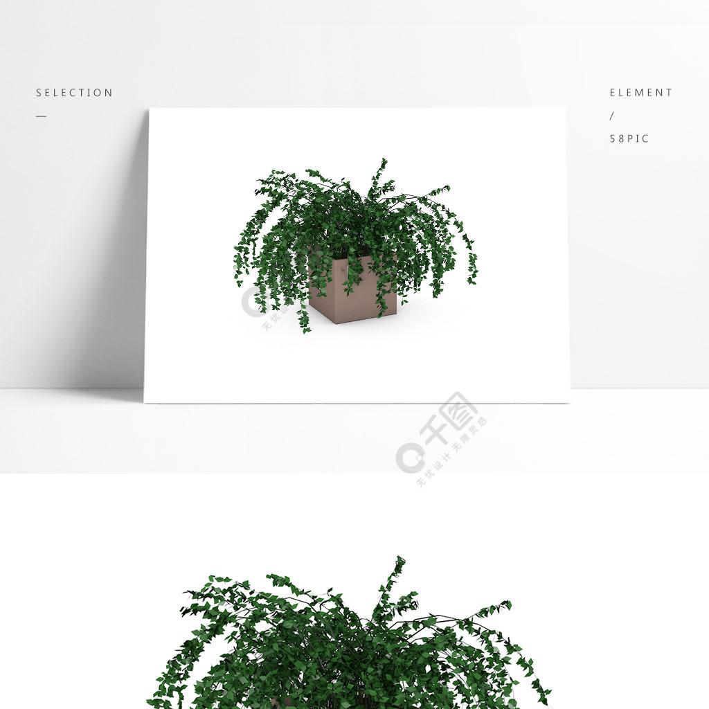 简约现代家用C4D植物模型
