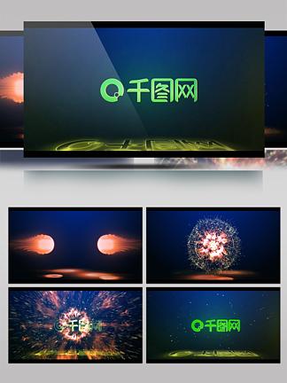 黃金詞計劃綠色logo視頻AE模板