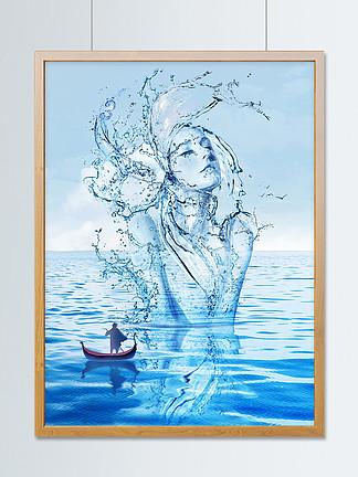 海洋之灵趋势插画