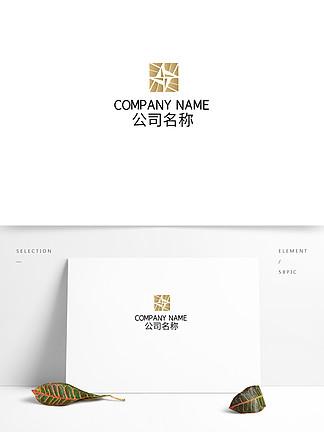 矩形金屬漸變時尚科技logo