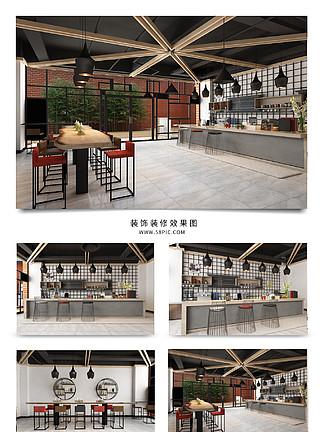 商业风格咖啡厅<i>装</i>饰<i>装</i><i>修</i><i>效</i><i>果</i><i>图</i>