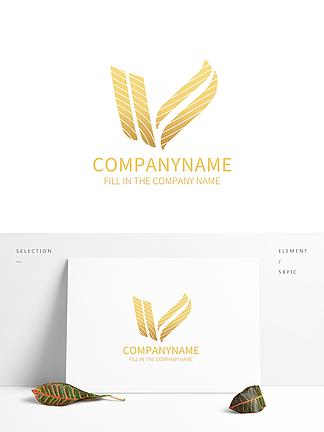 简约V字母LOGO设计公司标志