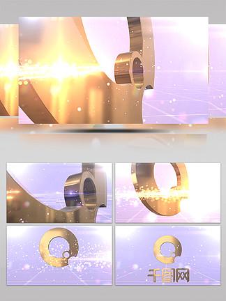 E3D大气震撼金色粒子logo演绎