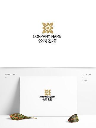 民宿地产金属渐变花园logo